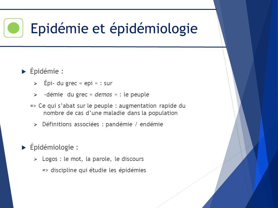 Epidémie et épidémiologie