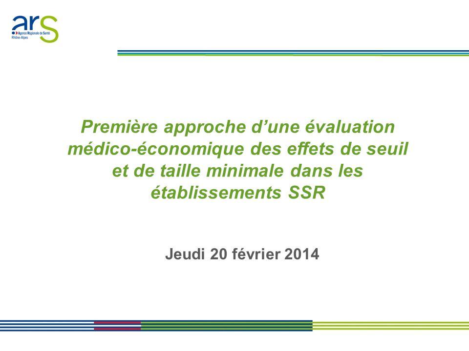 Première approche d'une évaluation médico-économique des effets de seuil et de taille minimale dans les établissements SSR