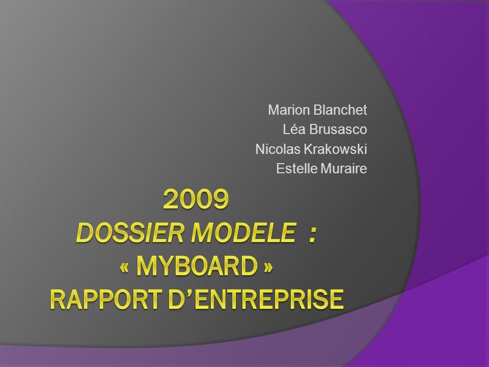 2009 DOSSIER MODELe : « Myboard » rapport d'entreprise