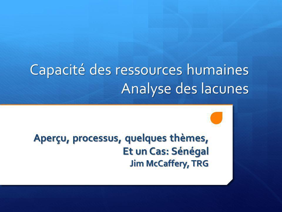 Capacité des ressources humaines Analyse des lacunes