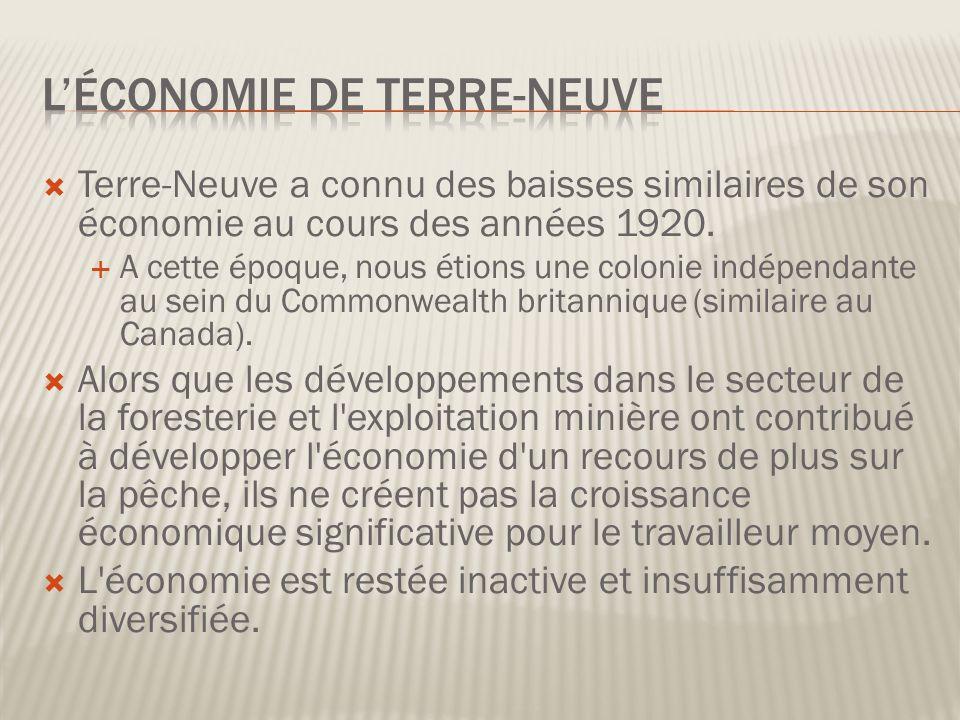 L'économie de Terre-Neuve