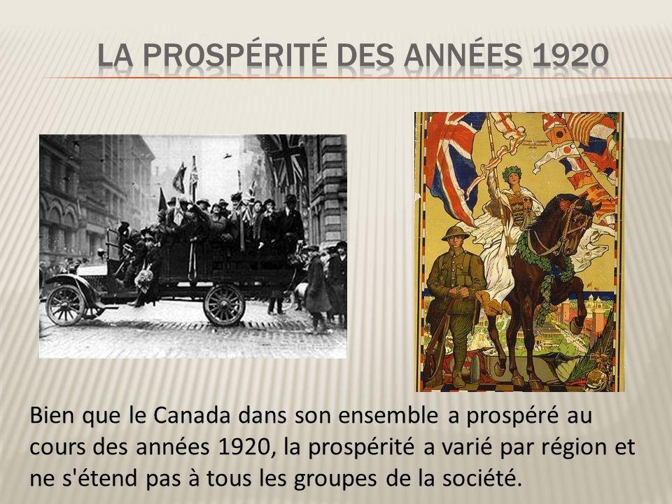 La prospérité des années 1920