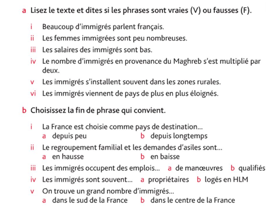 Source Nelson Thornes AQA A2 French p. 34
