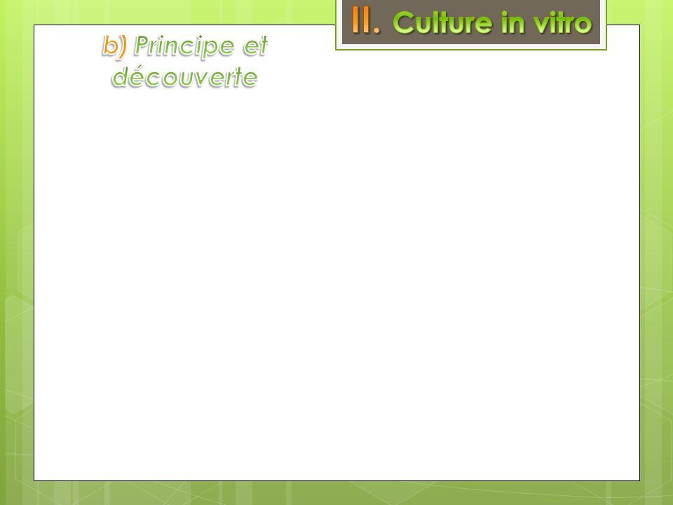 b) Principe et découverte