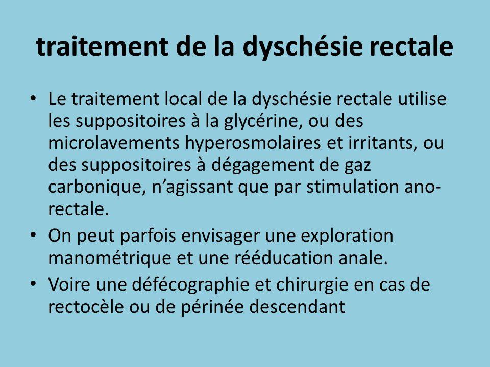 traitement de la dyschésie rectale