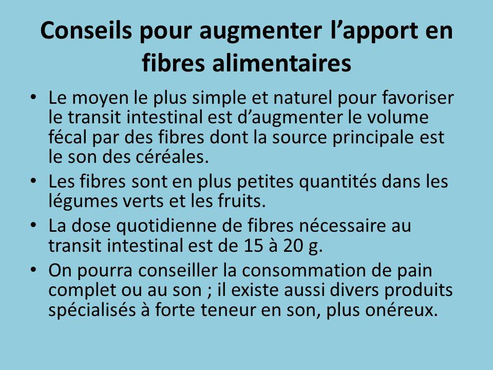 Conseils pour augmenter l'apport en fibres alimentaires
