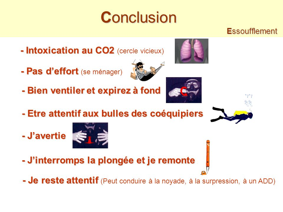 Conclusion - Intoxication au CO2 (cercle vicieux)