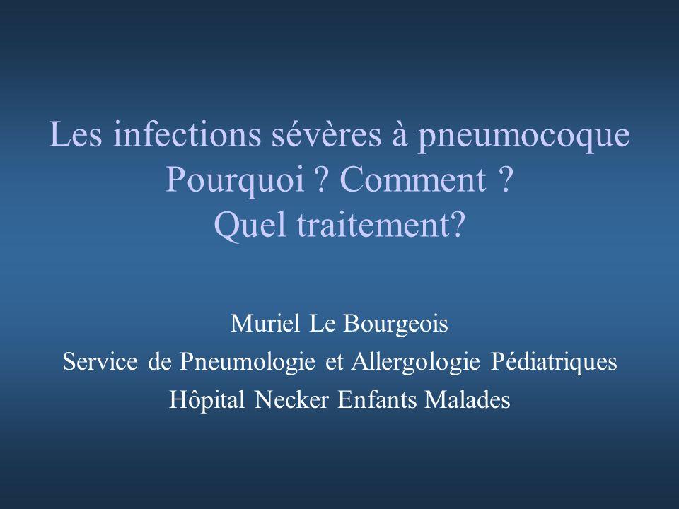 Les infections sévères à pneumocoque Pourquoi Comment Quel traitement