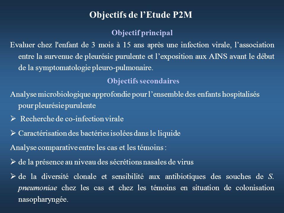 Objectifs de l'Etude P2M