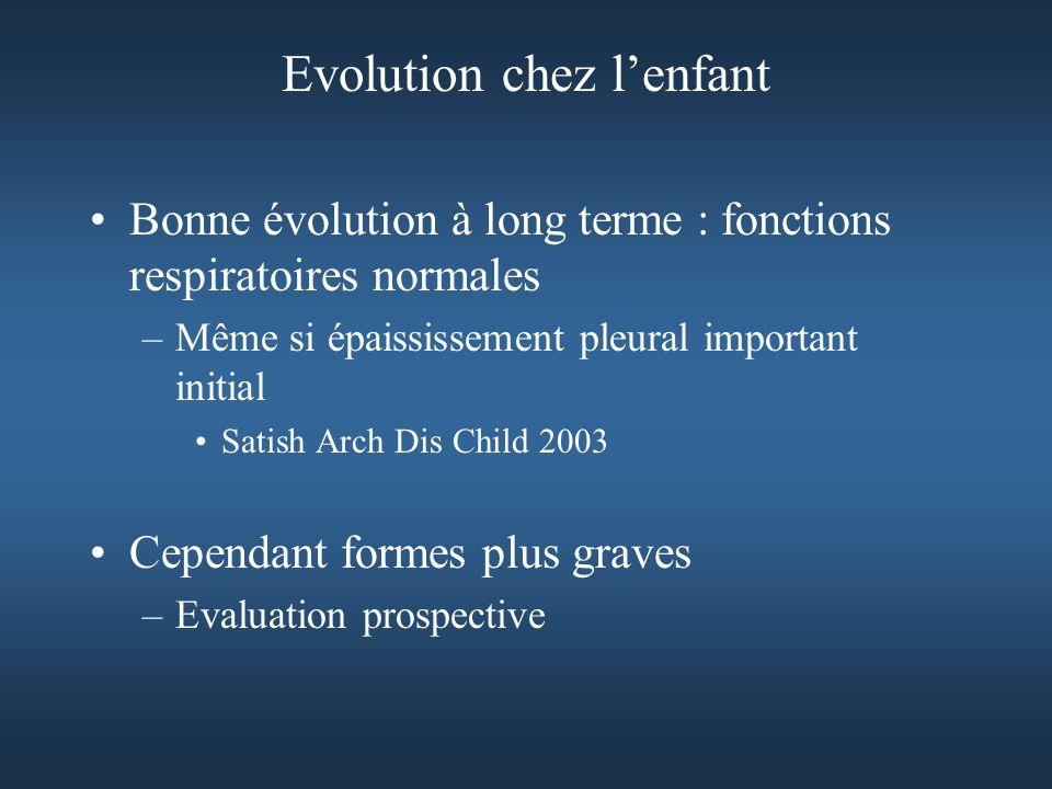 Evolution chez l'enfant