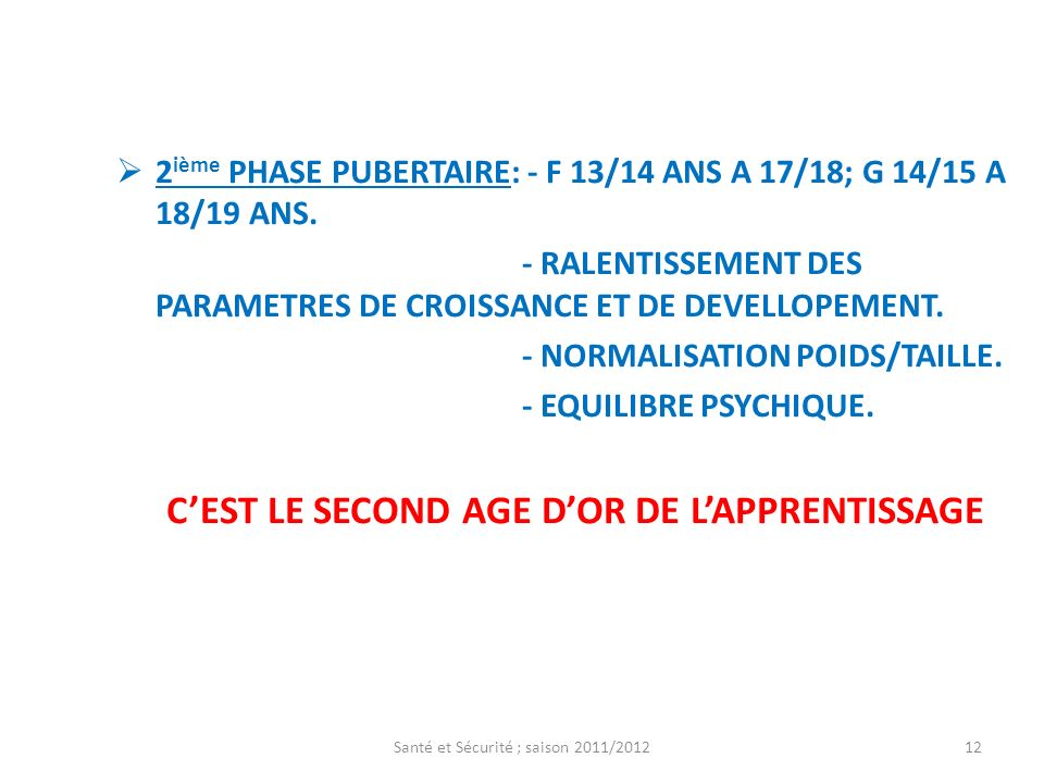 C'EST LE SECOND AGE D'OR DE L'APPRENTISSAGE