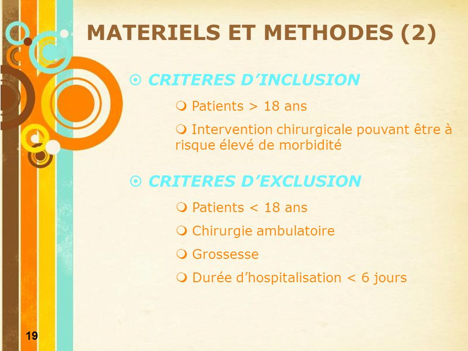 MATERIELS ET METHODES (2)