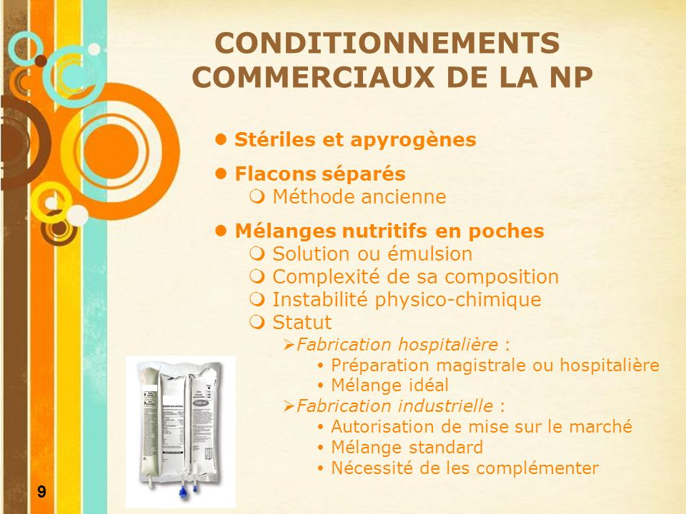 CONDITIONNEMENTS COMMERCIAUX DE LA NP