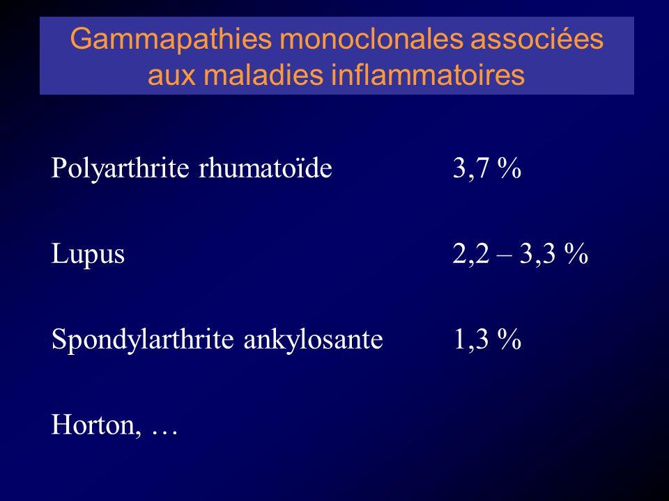 Gammapathies monoclonales associées aux maladies inflammatoires