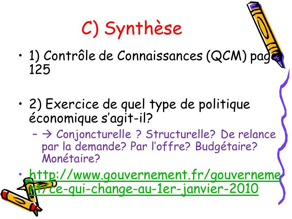 C) Synthèse 1) Contrôle de Connaissances (QCM) page 125