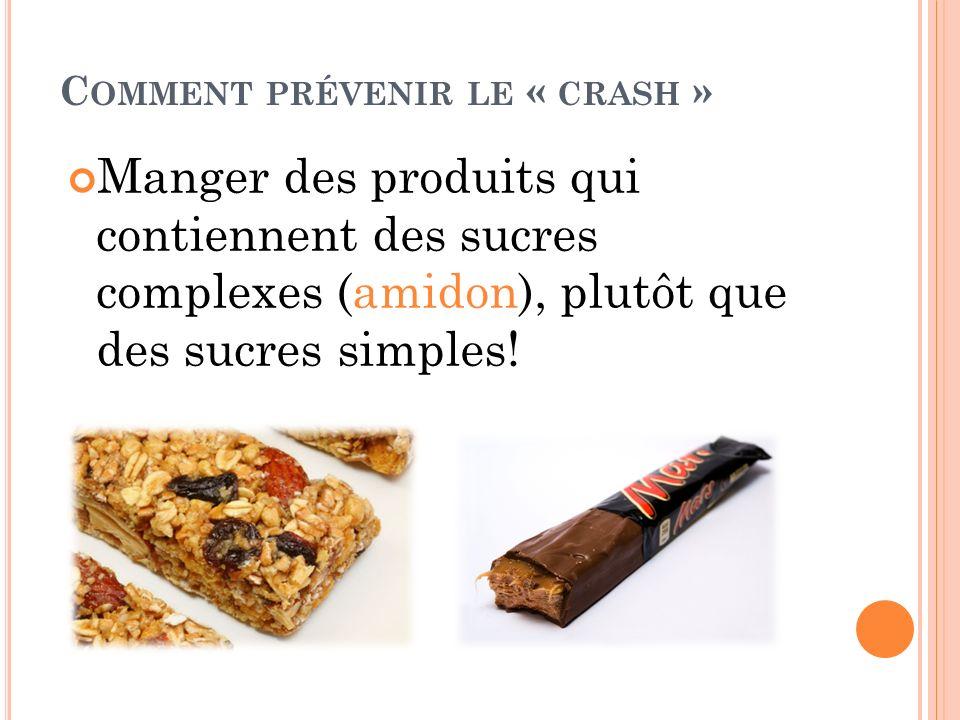 Comment prévenir le « crash »