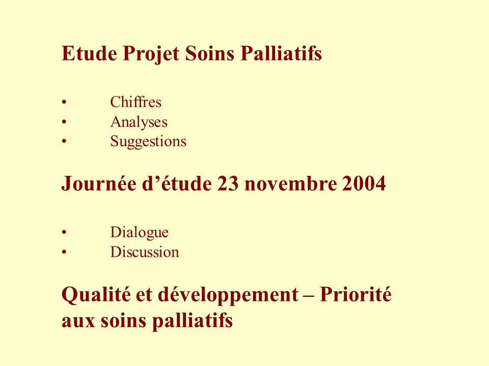 Etude Projet Soins Palliatifs