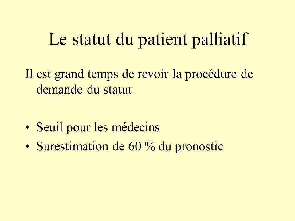 Le statut du patient palliatif
