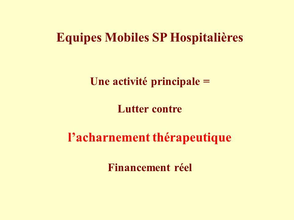 Equipes Mobiles SP Hospitalières l'acharnement thérapeutique