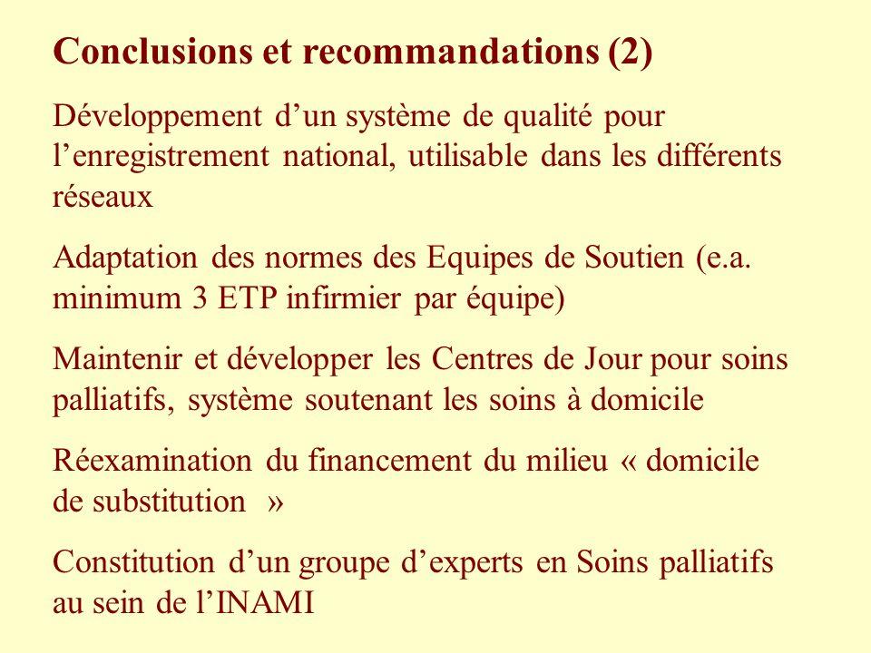 Conclusions et recommandations (2)