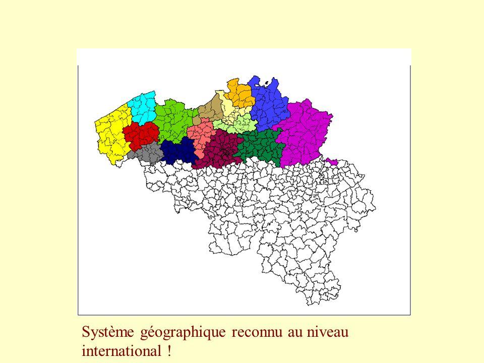 Système géographique reconnu au niveau international !