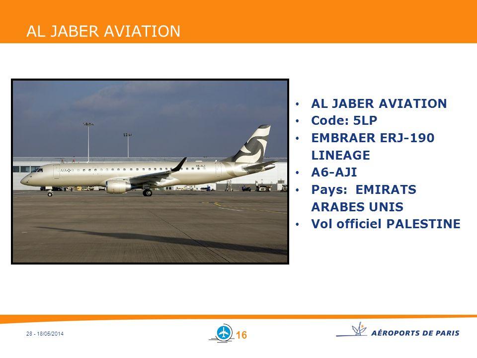 AL JABER AVIATION AL JABER AVIATION Code: 5LP EMBRAER ERJ-190 LINEAGE