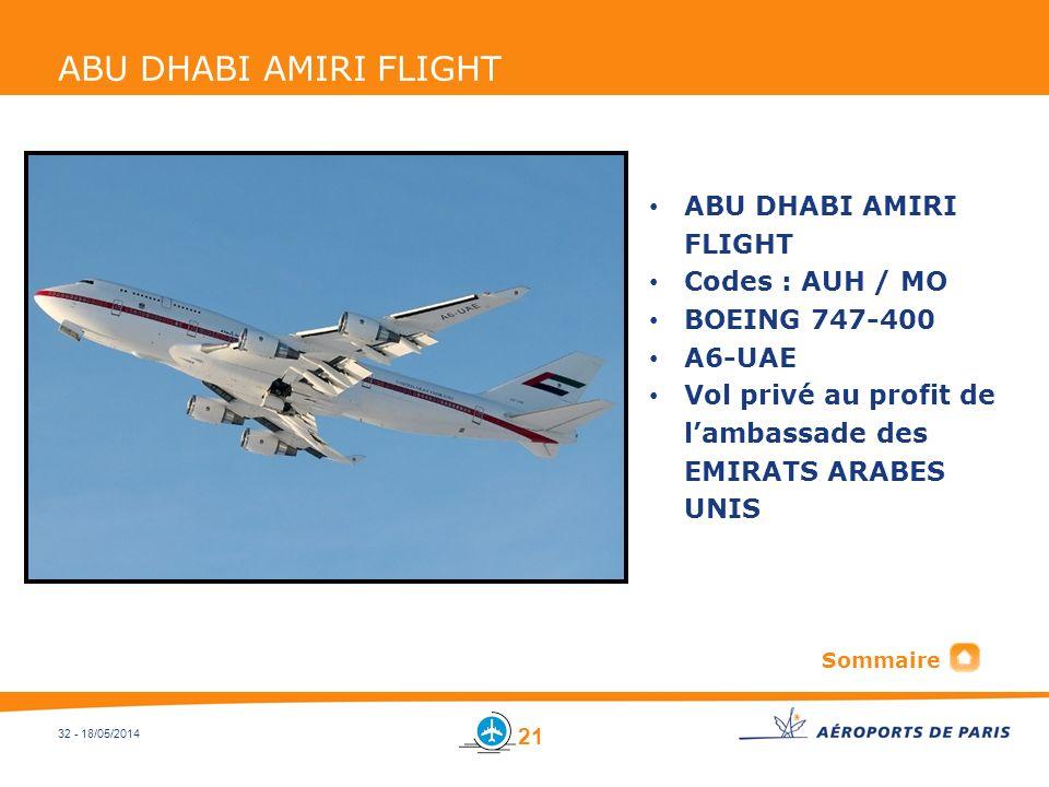 ABU DHABI AMIRI FLIGHT ABU DHABI AMIRI FLIGHT Codes : AUH / MO