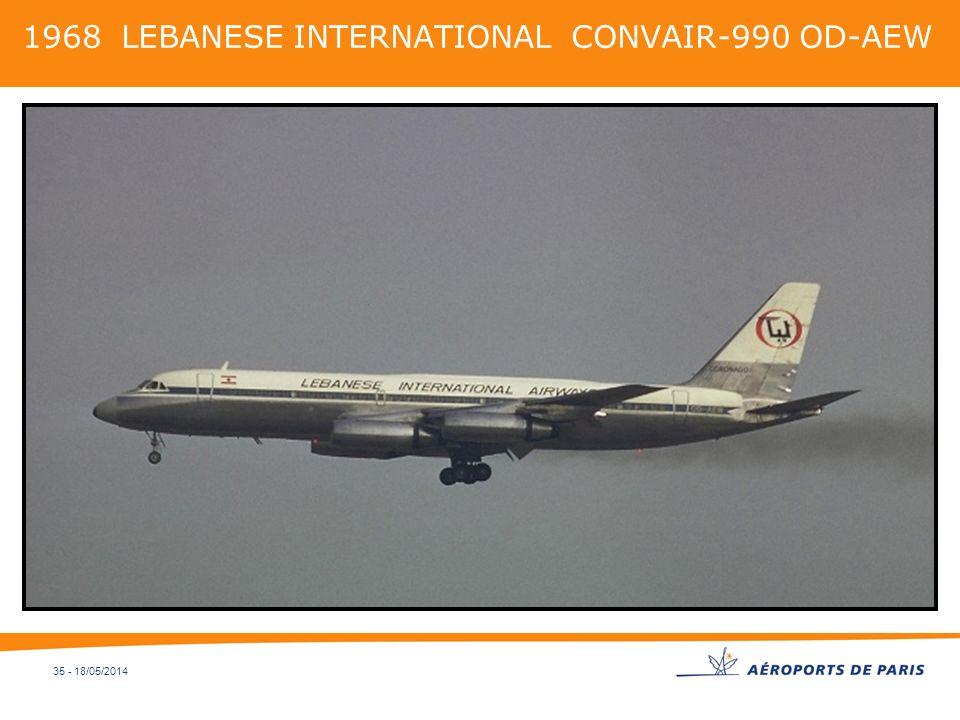 1968 LEBANESE INTERNATIONAL CONVAIR-990 OD-AEW