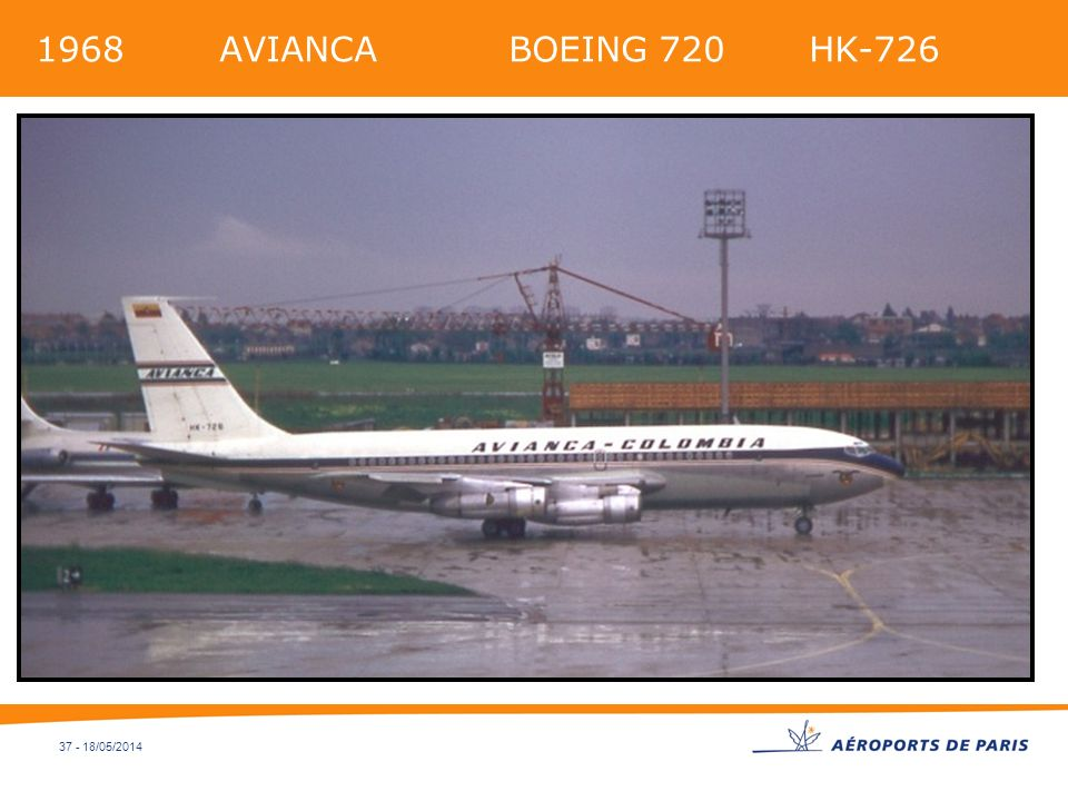 1968 AVIANCA BOEING 720 HK-726