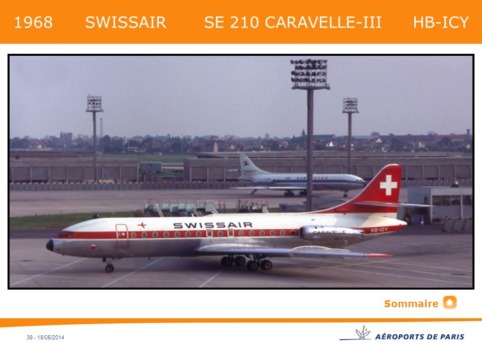 1968 SWISSAIR SE 210 CARAVELLE-III HB-ICY