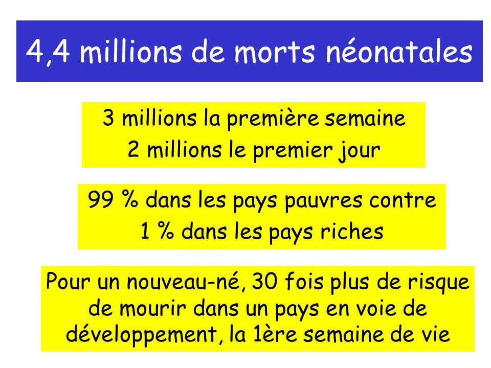 4,4 millions de morts néonatales