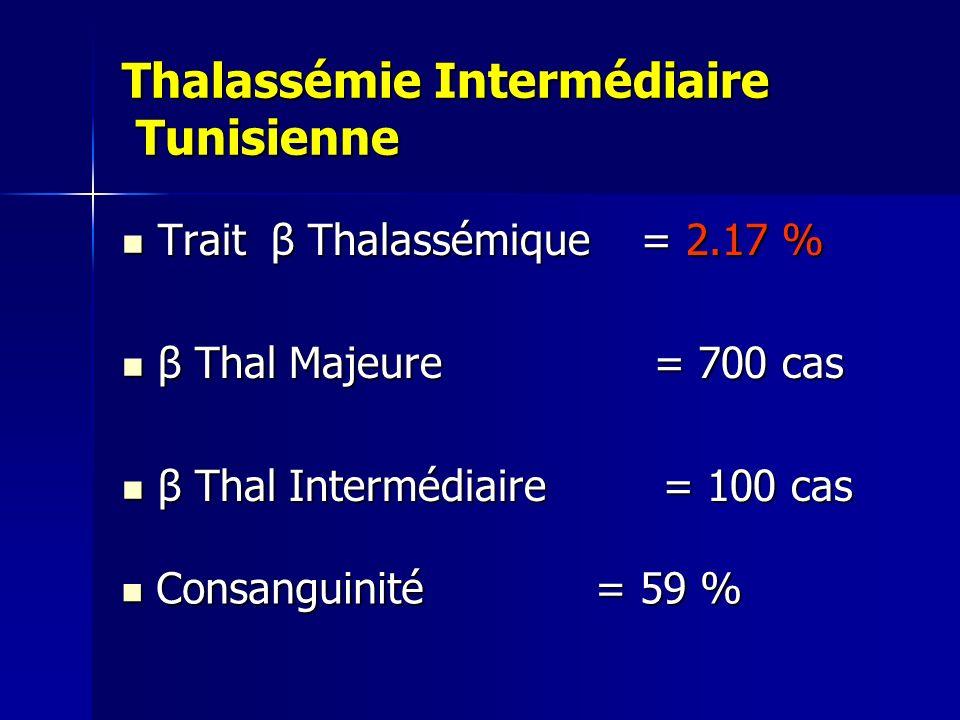 Thalassémie Intermédiaire Tunisienne