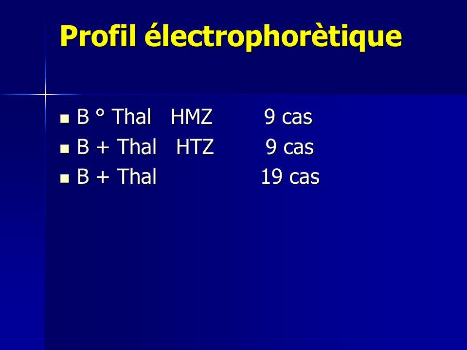 Profil électrophorètique