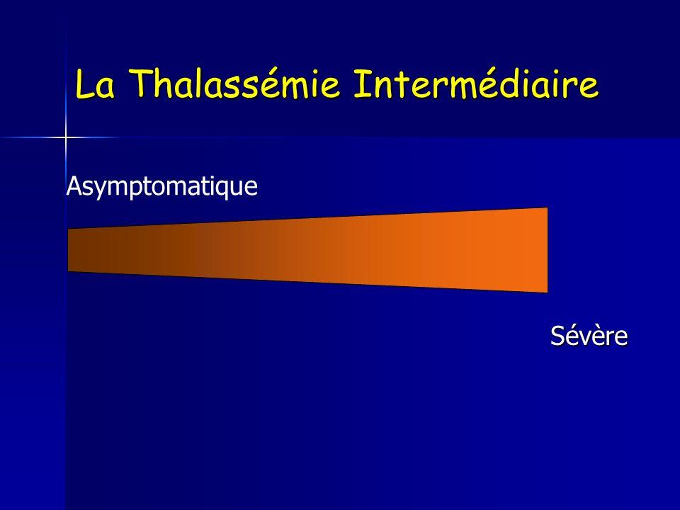 La Thalassémie Intermédiaire