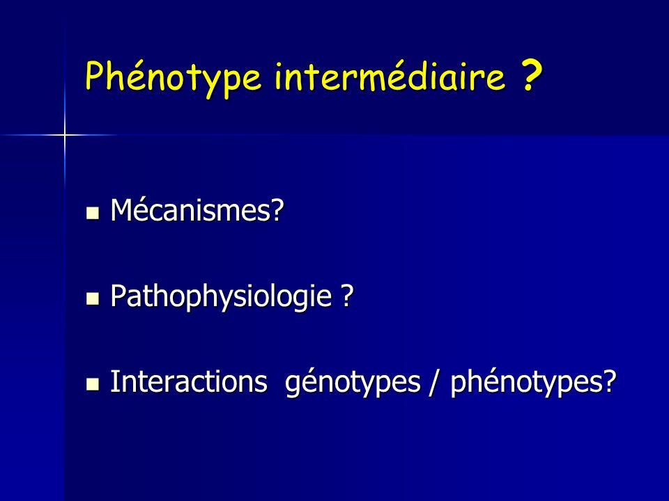 Phénotype intermédiaire