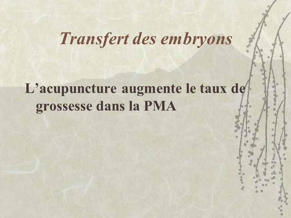 Transfert des embryons