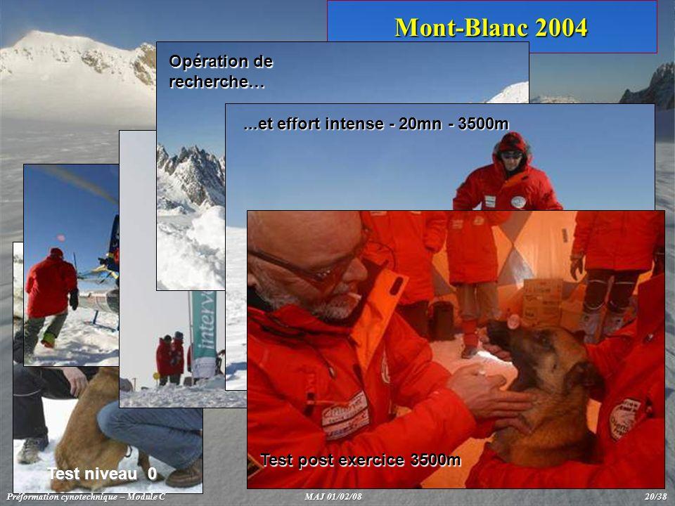 Camp de base / test - niveau 3500m