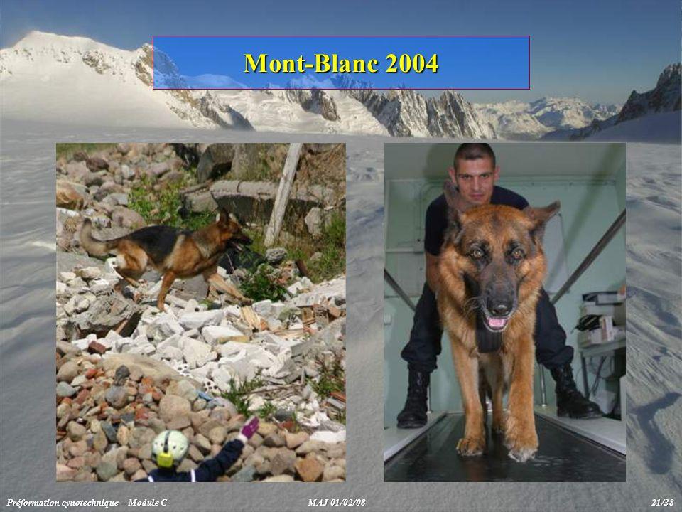 Mont-Blanc 2004 Préformation cynotechnique – Module C MAJ 01/02/08 21/38.