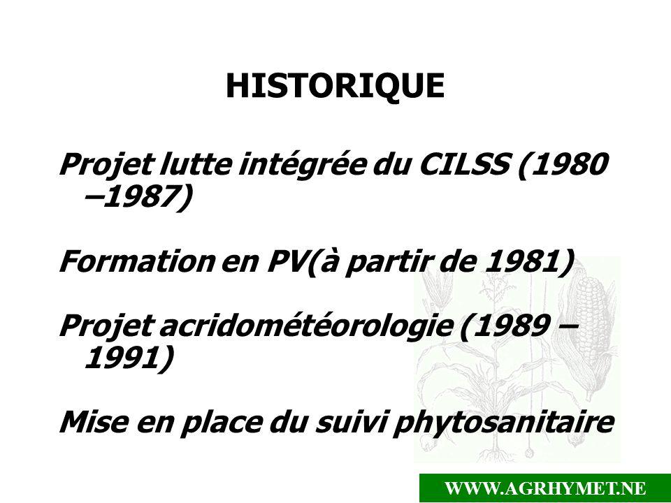 HISTORIQUE Projet lutte intégrée du CILSS (1980 –1987)