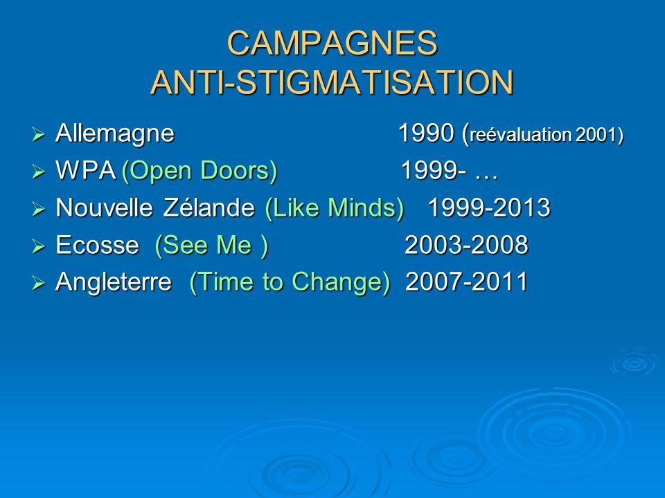CAMPAGNES ANTI-STIGMATISATION