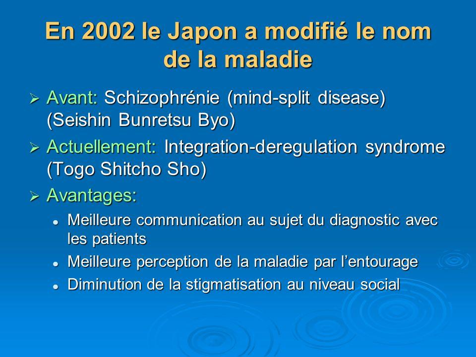 En 2002 le Japon a modifié le nom de la maladie