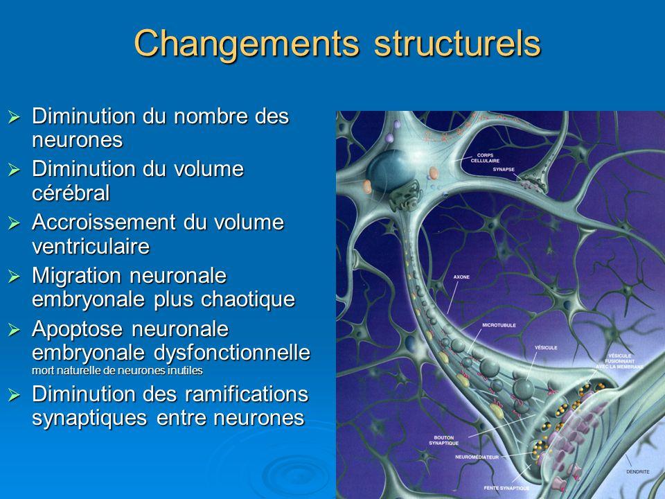 Changements structurels