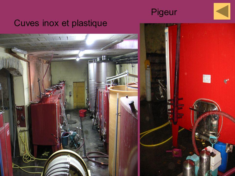 Pigeur Cuves inox et plastique