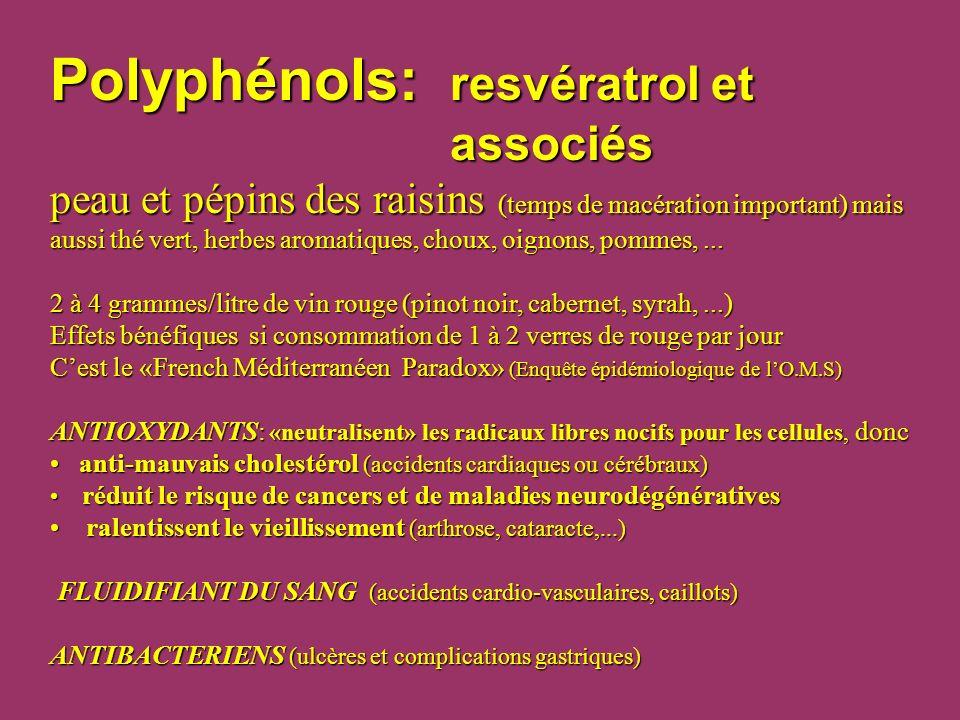 Polyphénols:. resvératrol et