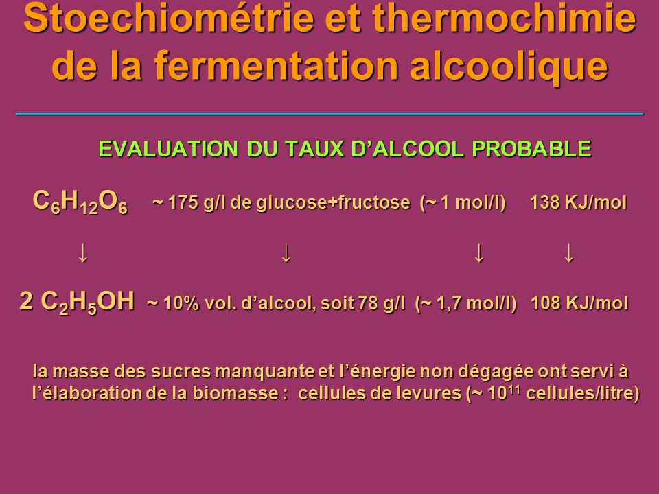 EVALUATION DU TAUX D'ALCOOL PROBABLE