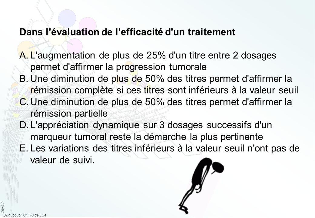 Dans l évaluation de l efficacité d un traitement