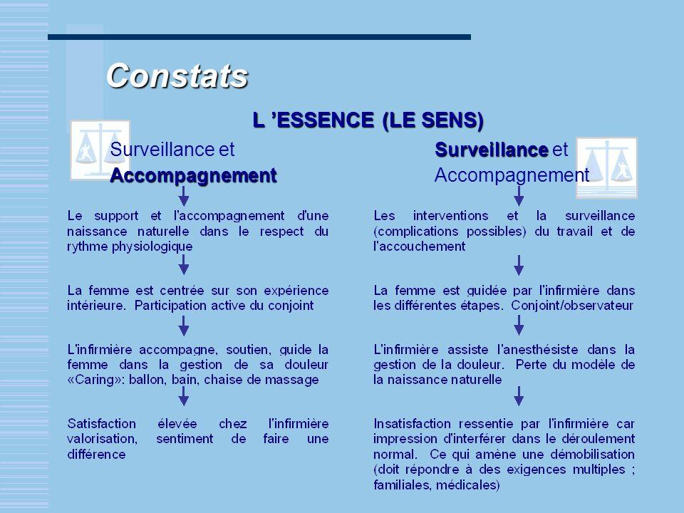 Constats L 'ESSENCE (LE SENS) Surveillance et Accompagnement