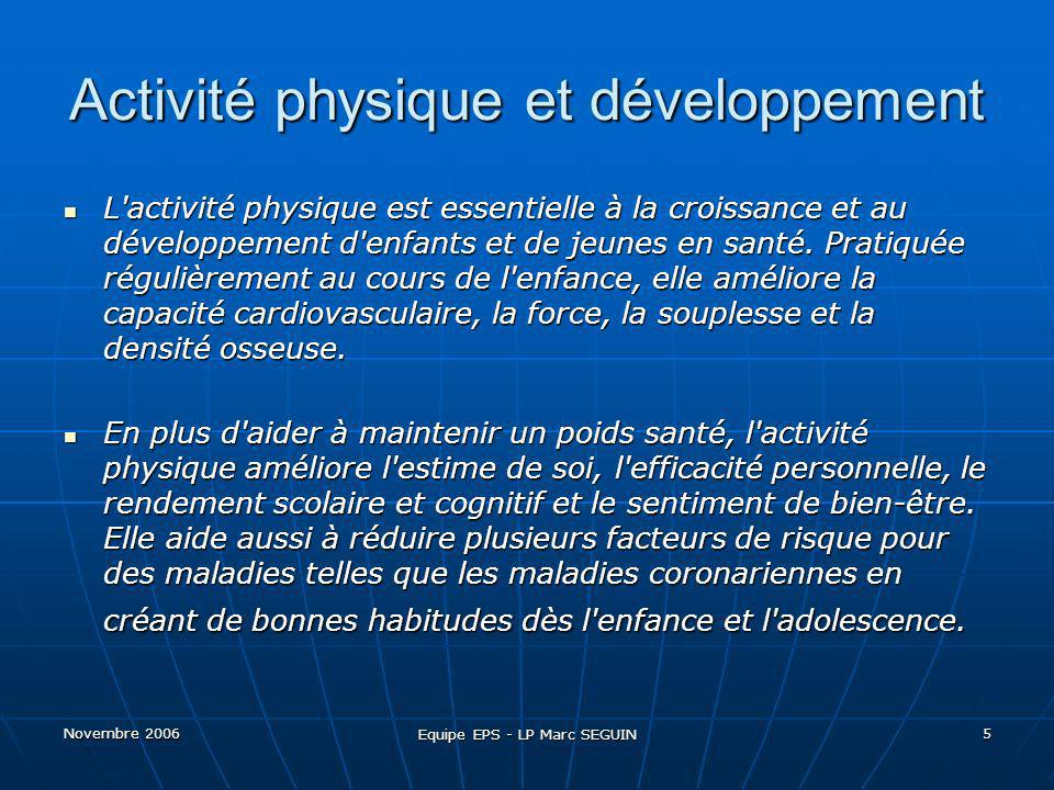 Activité physique et développement
