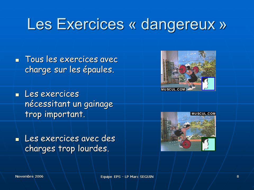 Les Exercices « dangereux »