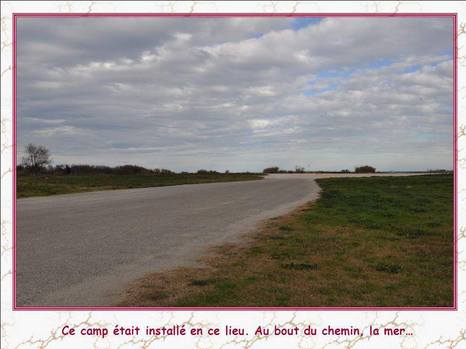 Ce camp était installé en ce lieu. Au bout du chemin, la mer…